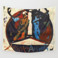 apollo Wall Tapestries featuring Artemis and Apollo by Alanna Urie