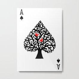 Ace of spade Metal Print
