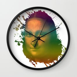 Mona Lisa - Splash Wall Clock