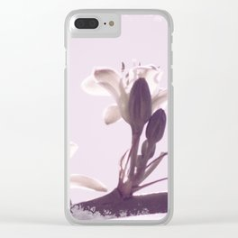 Hesperaloe parviflora Flower in Lavender Ice Clear iPhone Case