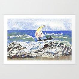 Fishing Near Cape Coast Art Print
