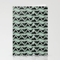 malachite Stationery Cards featuring Malachite Triangles by naturessol