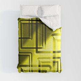 Embossed pattern of straw squares on glowing foil. Comforters