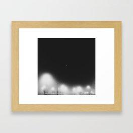 Fog Light in the Night Framed Art Print