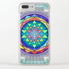 Sri Yantra VII.XI Clear iPhone Case