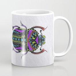 Egyptian Scarab Beetle - Silver & color metallic Coffee Mug
