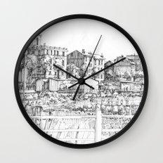 Spiagge a Pegli B&W Wall Clock
