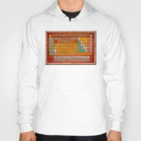 periodic table Hoodies featuring Vintage Industrial Periodic Table Of The Elements by Mark E Tisdale