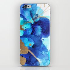 Blue Watercolor Abstract iPhone & iPod Skin