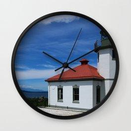 Alki Point Light Wall Clock