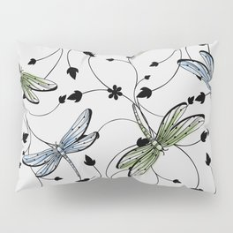 Dragonflies in the garden Pillow Sham