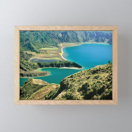 Lagoa do Fogo Framed Mini Art Print