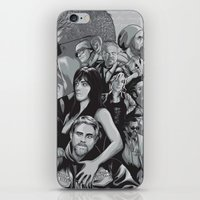sons of anarchy iPhone & iPod Skins featuring Sons of Anarchy by Denis O'Sullivan