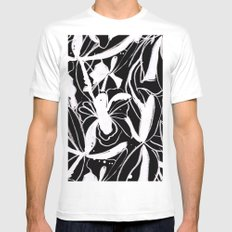 Snowy Forest II White MEDIUM Mens Fitted Tee