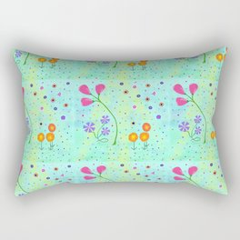Springtime, original art, repeated Rectangular Pillow