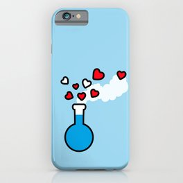 Blue and Red Laboratory Flask iPhone Case
