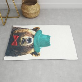 Funny Bear Illustration Rug