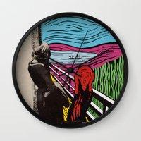 scream Wall Clocks featuring Scream by Canson City