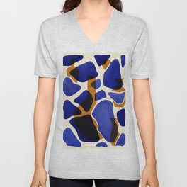 Blue vases Unisex V-Neck