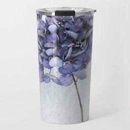 Dried Blue Hydrangea Travel Mug