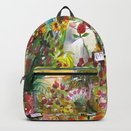 haunted florist shop Backpack
