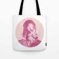 chewbacca Tote Bags featuring Chewbacca by NJ-Illustrations