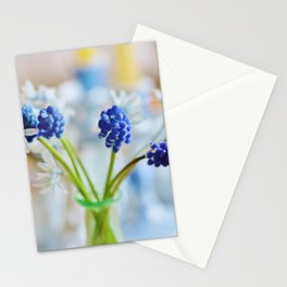 Blue and white spring lily Stationery Cards