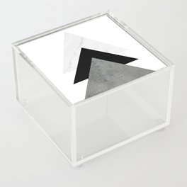 Arrows Monochrome Collage Acrylic Box