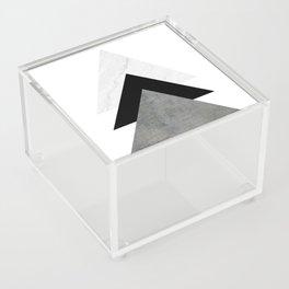 Arrows Monochrome Collage Acrylic Box