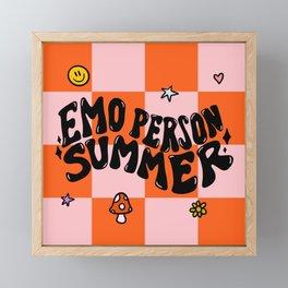 Emo Person Summer Framed Mini Art Print