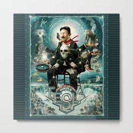 Nikola Tesla Master of Lightning Metal Print