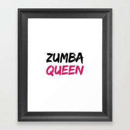 Zumba Queen Framed Art Print
