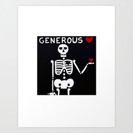 Generous Art Print