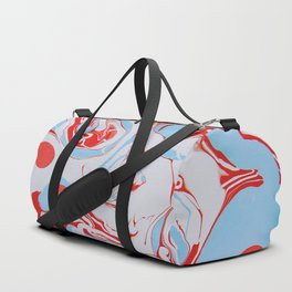 Swirl of red and blue Duffle Bag