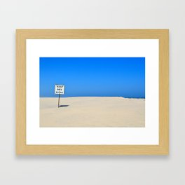Road Ends Ahead Framed Art Print