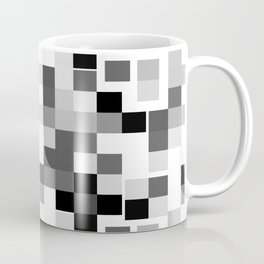 Grayscale Squares Coffee Mug
