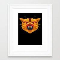 sneaker Framed Art Prints featuring Sneaker Wildcat by Steven Piantoni