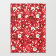 Fresh Blossoms (Reds) Canvas Print