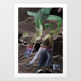 girls are puzzling Art Print