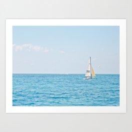 Solo Sailboat Art Print