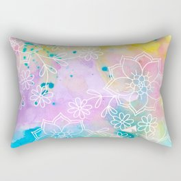 Watercolour abstract floral 1 Rectangular Pillow