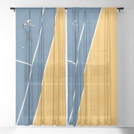 Tennis Player Sheer Curtain