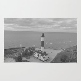 Black and White Lighthouse Rug