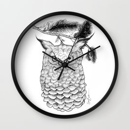 Coniferous Owl Wall Clock
