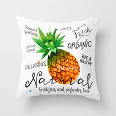 Watercolor pineapple Throw Pillow