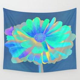 Calendula Flower: Neons Wall Tapestry