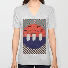 Stitch in Time - circle graphic Unisex V-Neck