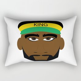 Black Yellow Green Jamaica King Rectangular Pillow