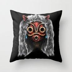 The Wolf Princess Throw Pillow