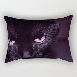 Black Cat in Amethyst - My Familiar Rectangular Pillow